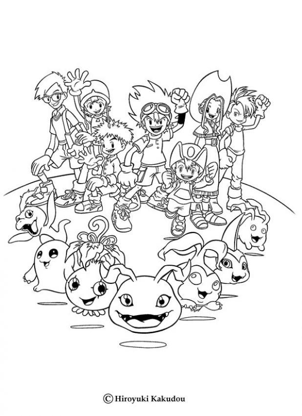 Alle Digimon Helden Malbogen Zum Ausmalen De Hellokids Com