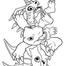 Agumon und Freunde Malbogen