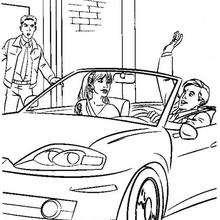 Peter Parker in seinem Cabriolet