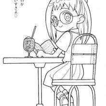 Rere liest ein Buch
