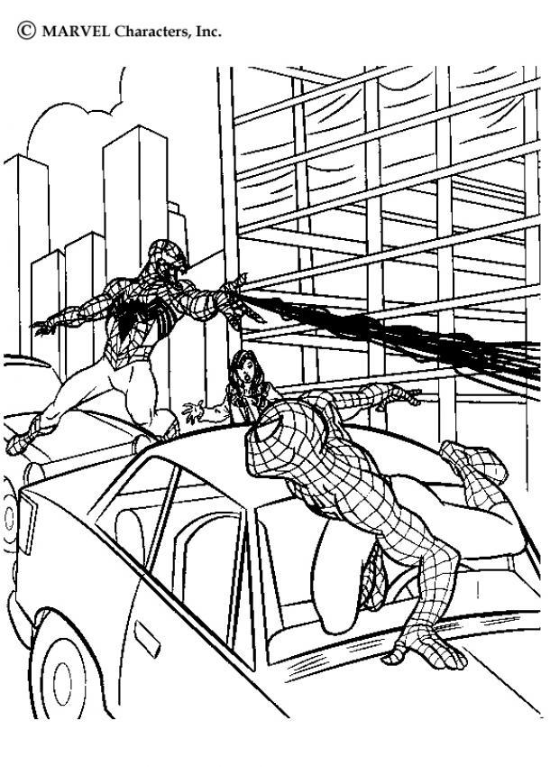 Venom Duelliert Mit Spiderman Zum Ausmalen Dehellokidscom