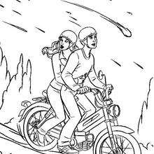 Spiderman fährt sein Motorrad
