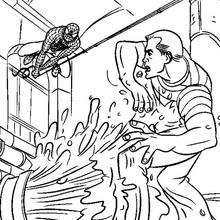 Spiderman und Sandman