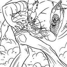 Spiderman duelliert mit Sandman