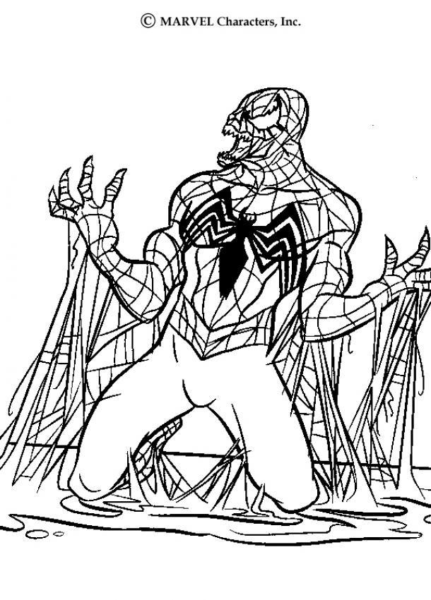 SPIDERMAN zum Ausmalen - Venom