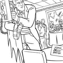Bruce Wayne im Restaurant zum Ausmalen
