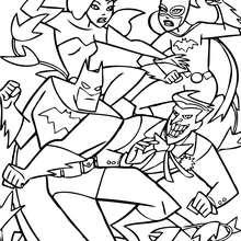 Batman kämpft mit Feinden