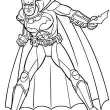 Batmans Aktion zum Ausmalen
