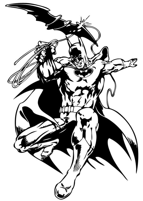 Spiderman Bilder Zum Ausdrucken Unique Photos Ausmalbilder: Batman Und Batarang Zum Ausmalen