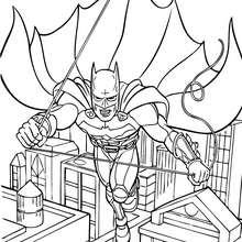 Batman fliegt zum Ausmalen