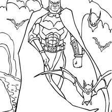Batman und seine Rüstung zum Ausmalen