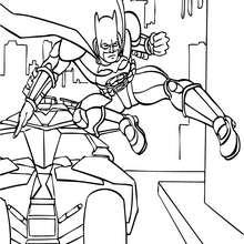Batman und Batmobil zum Ausmalen