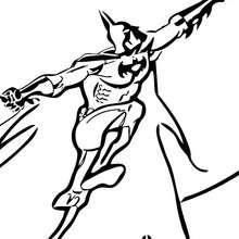 Batman klettert zum Ausmalen