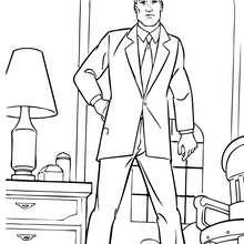 Bruce Wayne in seinem Haus zum Ausmalen