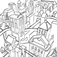Gotham City zum Ausmalen