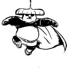 Po der Kung Fu Held fliegt