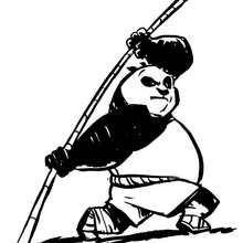 Kung Fu Panda trainiert