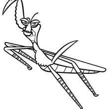 Master Mantis zum Ausmalen