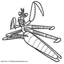 Mantis, der Kung Fu Master zum Ausmalen