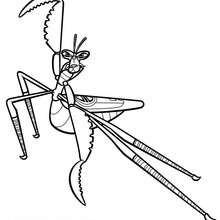 Mantis ist bereit für den Kampf zum Ausmalen