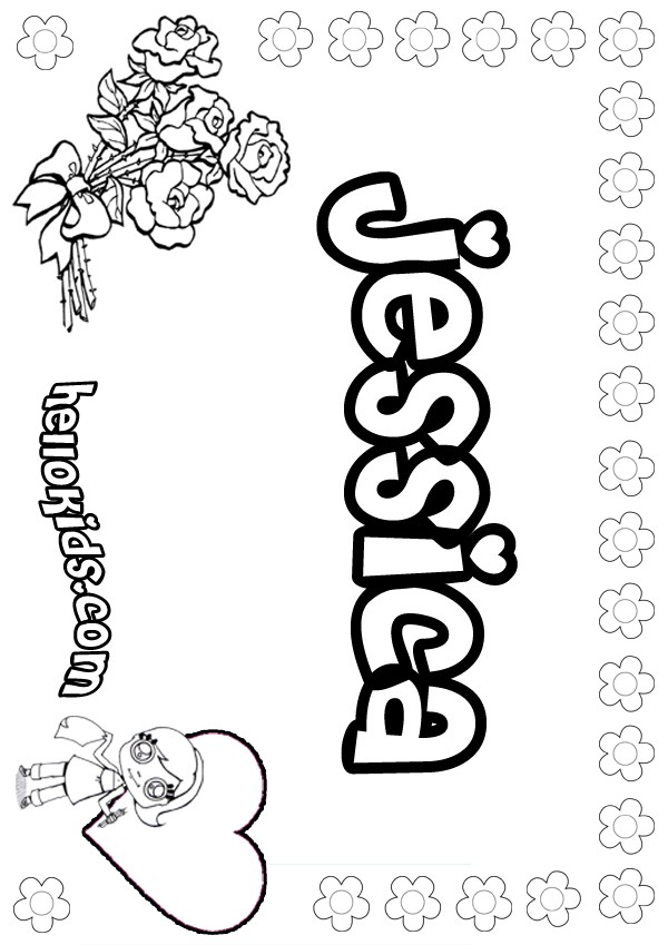 Jessica Name Coloring Page