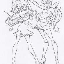 Bloom und Stella die Winx Club Feen