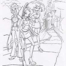 Das böse Trio der jugendlichen Hexenschwestern