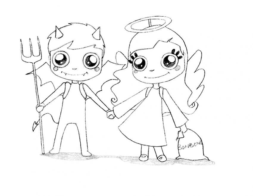 Malvorlagen Engel Und Teufel | My blog