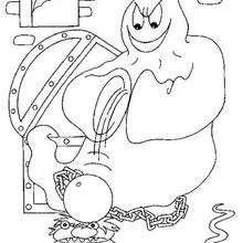 Halloween Geist mit Folterinstrumenten