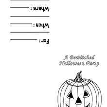 Halloween Partyeinladung: Kürbis Motto