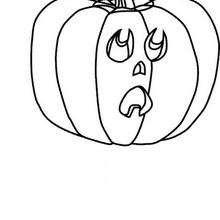 Halloween Kürbis zum Ausmalen