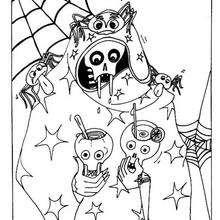 Gruseliges Halloweenskelett