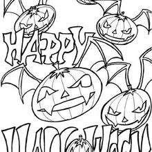 Halloween Fledermauskürbisse