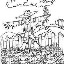 Halloween Vogelscheuche