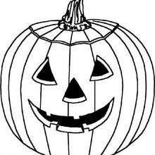 Großer Halloween Kürbis
