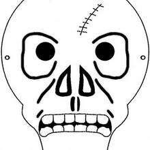 Halloween Skelettmaske
