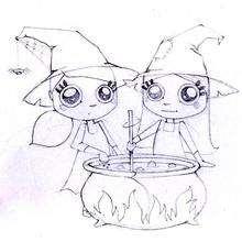 Halloween Zwillingshexen