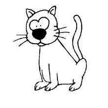 Lustige Katze zum Ausmalen