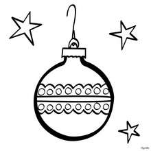 Weihnachtsball zum Ausmalen