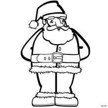 Weihnachtsmann zum Ausmalen