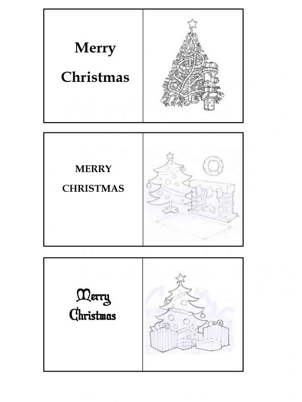 weihnachtsbaum geschenkkarten zum ausmalen. Black Bedroom Furniture Sets. Home Design Ideas