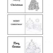 Weihnachtsbaum Geschenkkarten