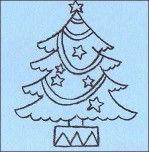 Wie man einen Weihnachtsbaum malt