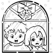 Weihnachtsfenster zum Ausmalen