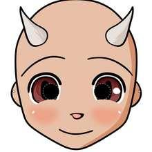 Teufelsmaske für Halloween