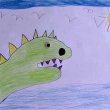 Wie man mit deiner Hand einen Dinosaurier malt