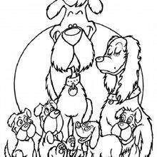 Foxterrier-Familie zum Ausmalen