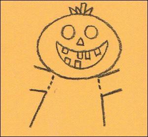 Wie man einen Halloween Kürbis malt