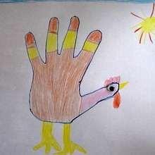 Wie man mit deiner Hand eine Henne malt