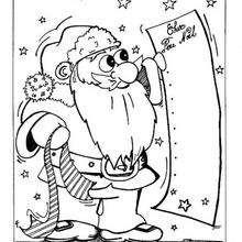 Weihnachtsmann mit Geschenkliste
